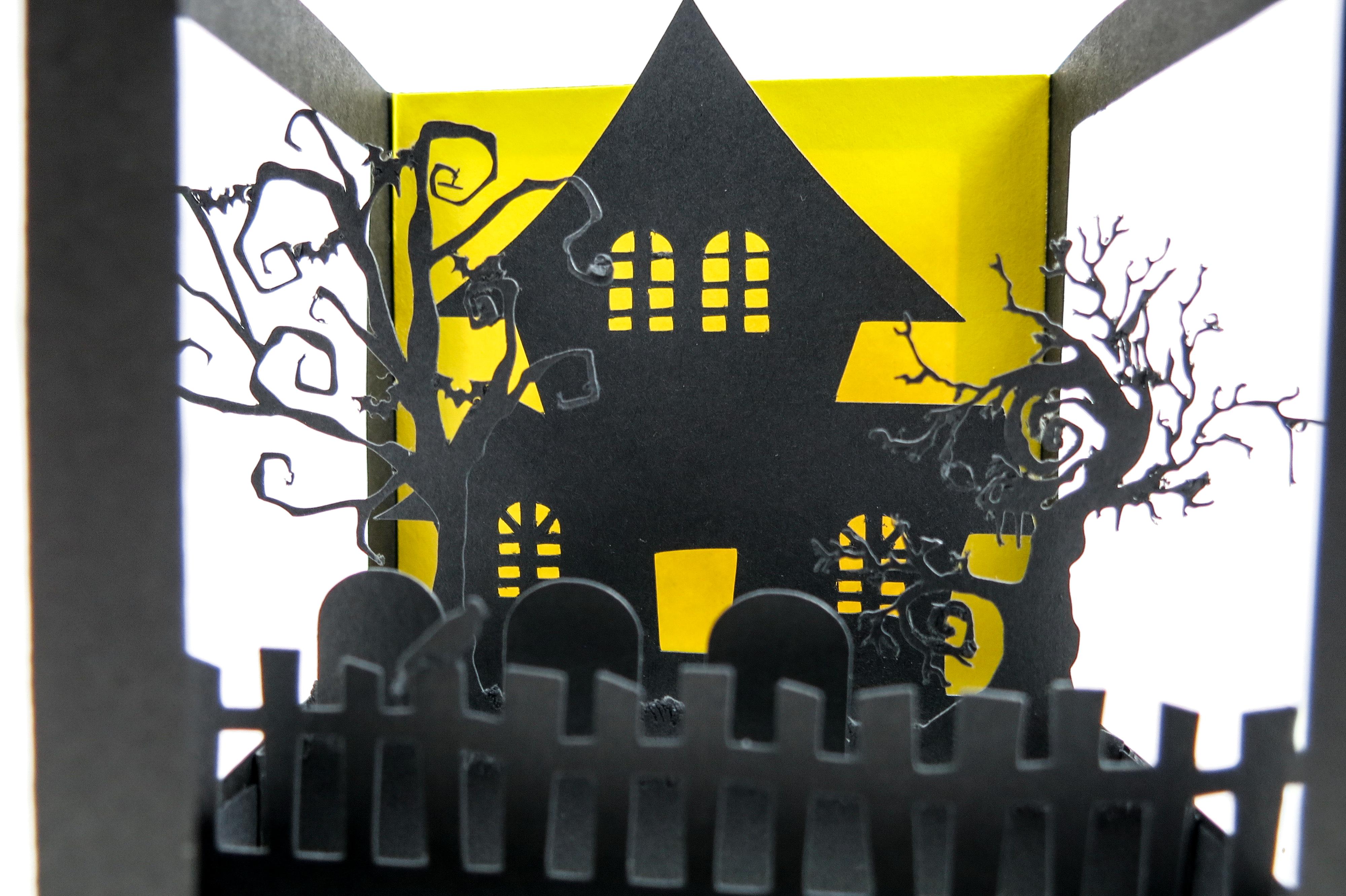 Halloween Pop up Card Closeup
