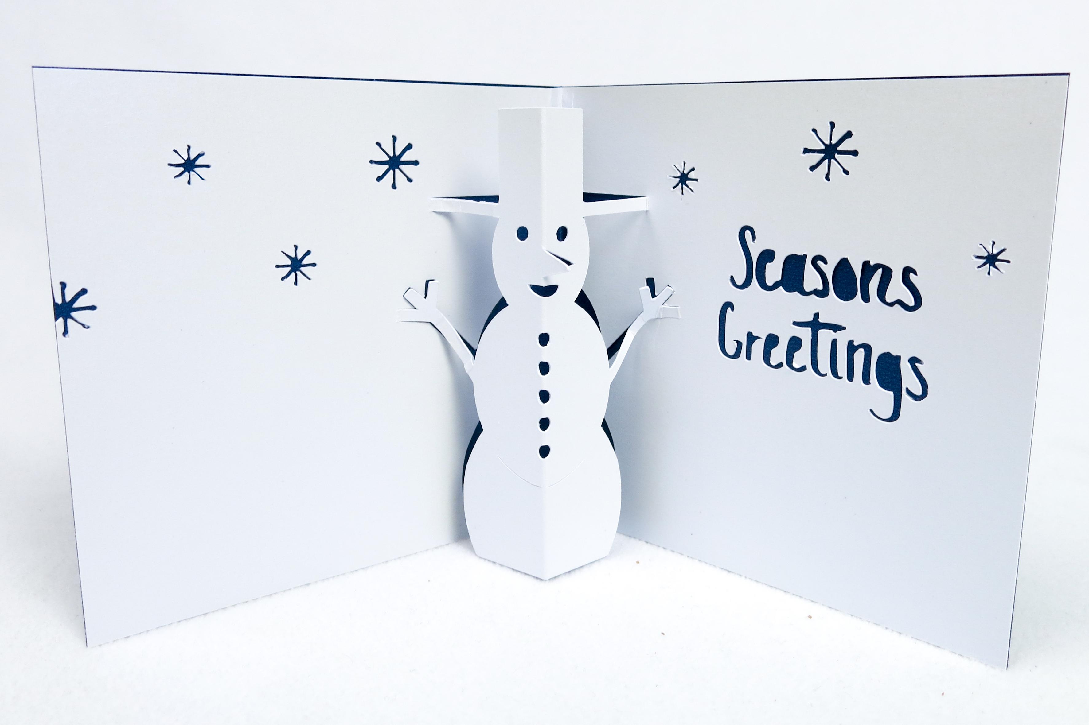 Seasons Greetings Opened Card