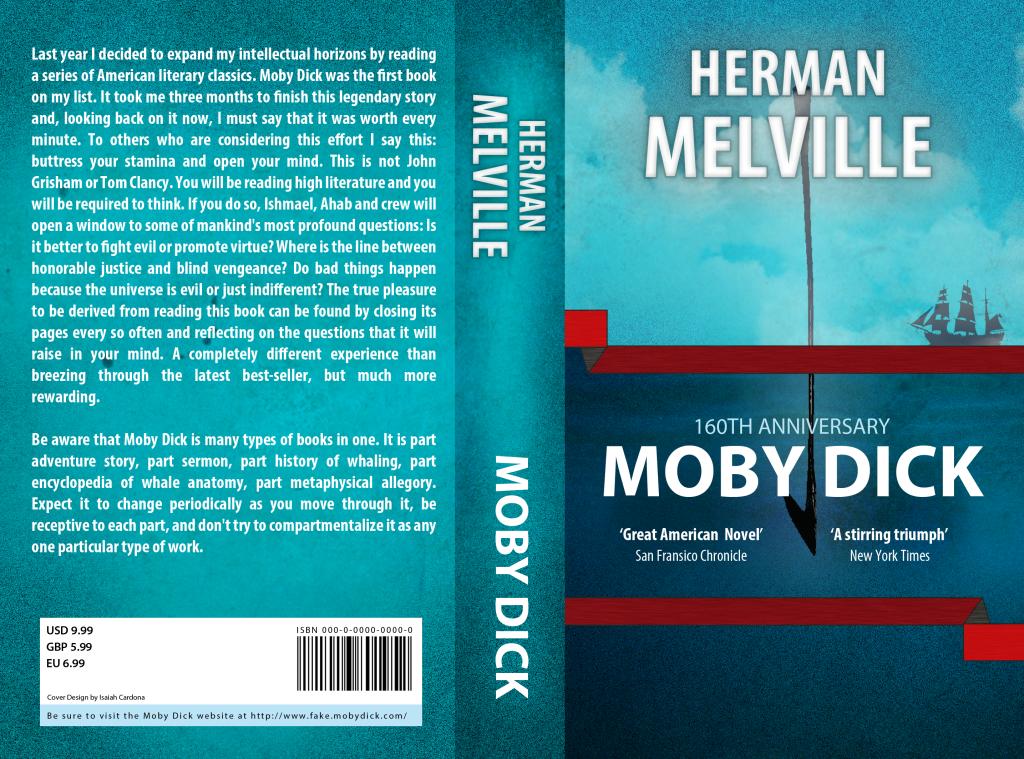 Moby Dick Book Cover Isaiah Cardona