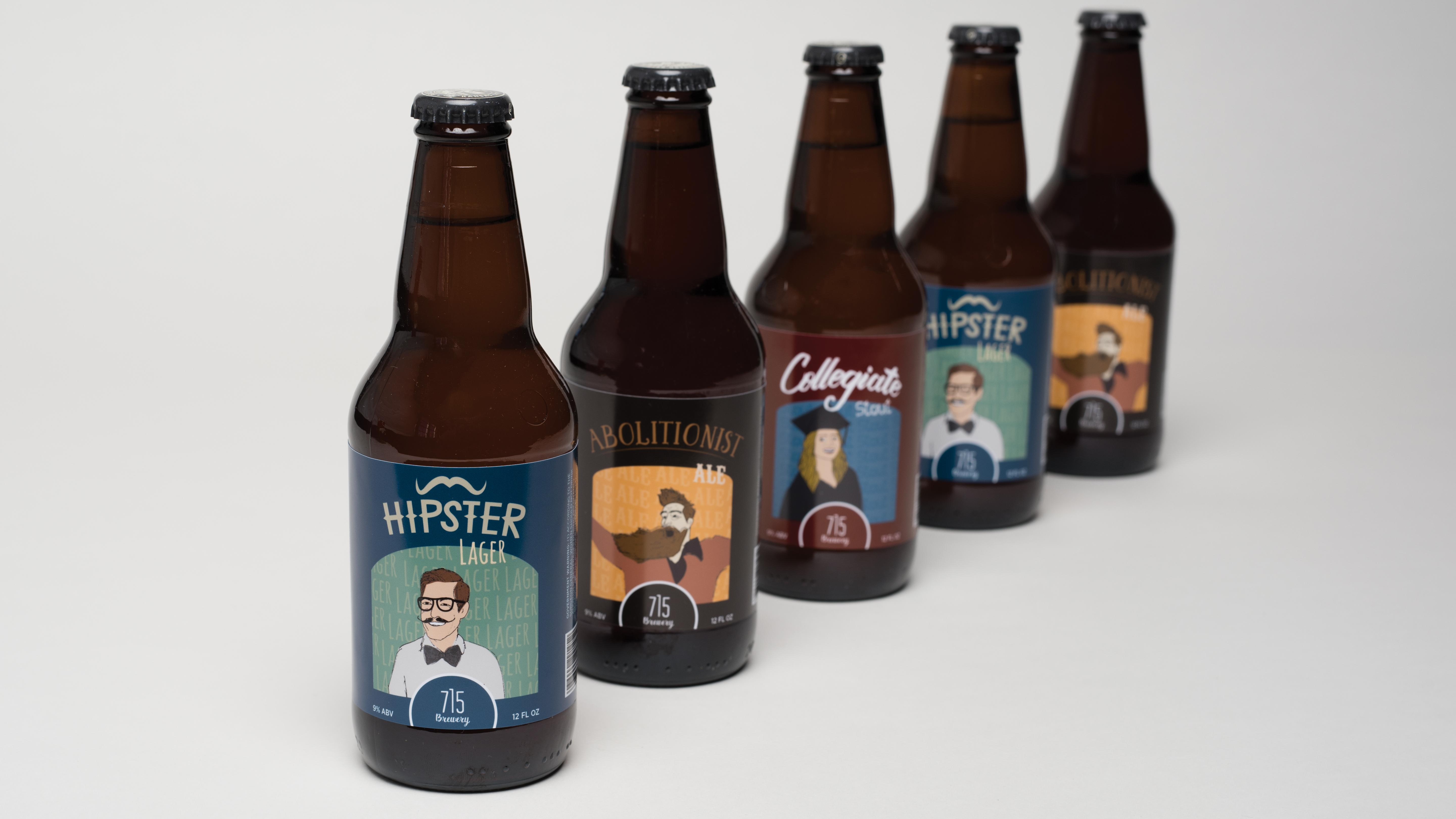 715 Brewery Bottles