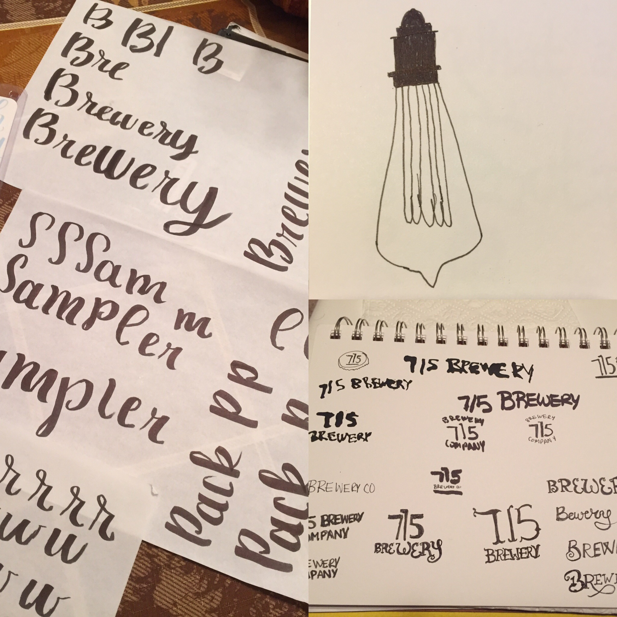 715 Brewery Sketches