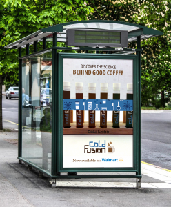 Cold Fusion Bus Stop Ad